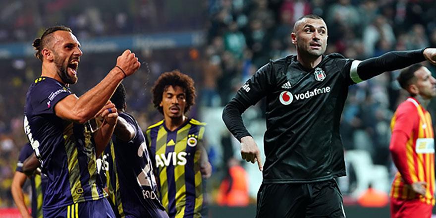 Fenerbahçe'de Vedat, Beşiktaş'ta Burak önde