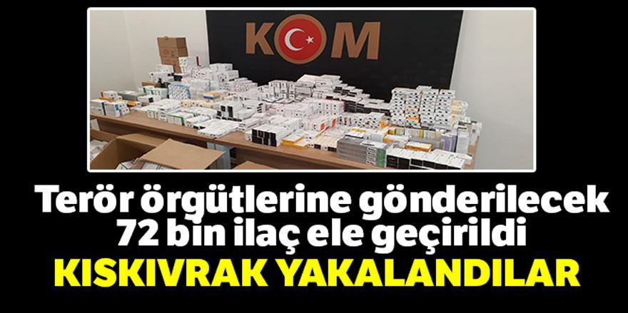 Ankara'da teröristlere gönderilecek 72 bin hap ele geçirildi