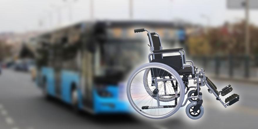 Ankara'da skandal! Engelli olduğu için otobüse alınmadı
