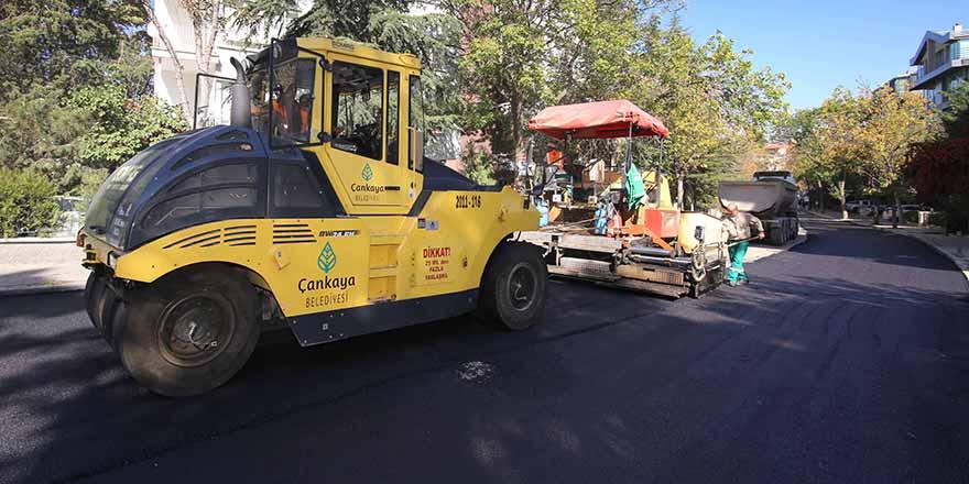 Çankaya asfaltta 2019 yılını 100 bin ton ile tamamladı