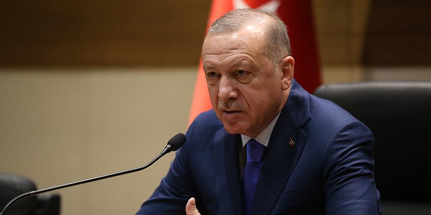 """Cumhurbaşkanı Erdoğan, """"Rejimin vahşetine dur deme vakti artık gelmiştir"""""""