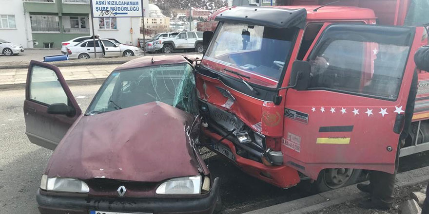Ankara'da korkutan trafik kazası