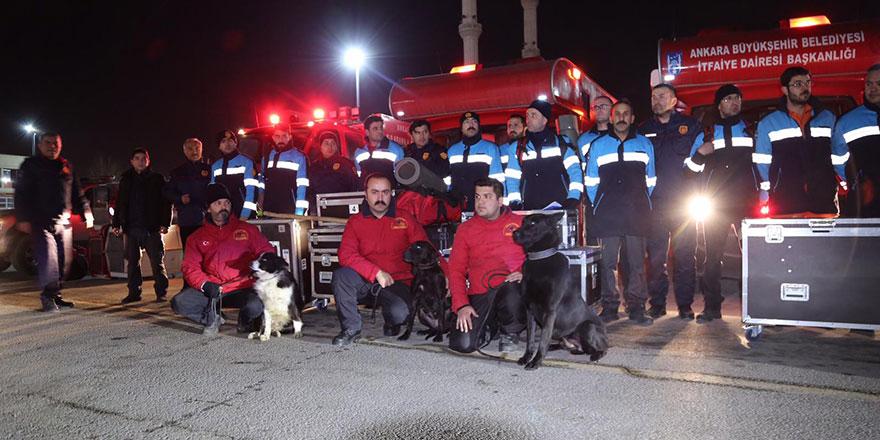 Ankara Büyükşehir'den Elazığ'a yardım