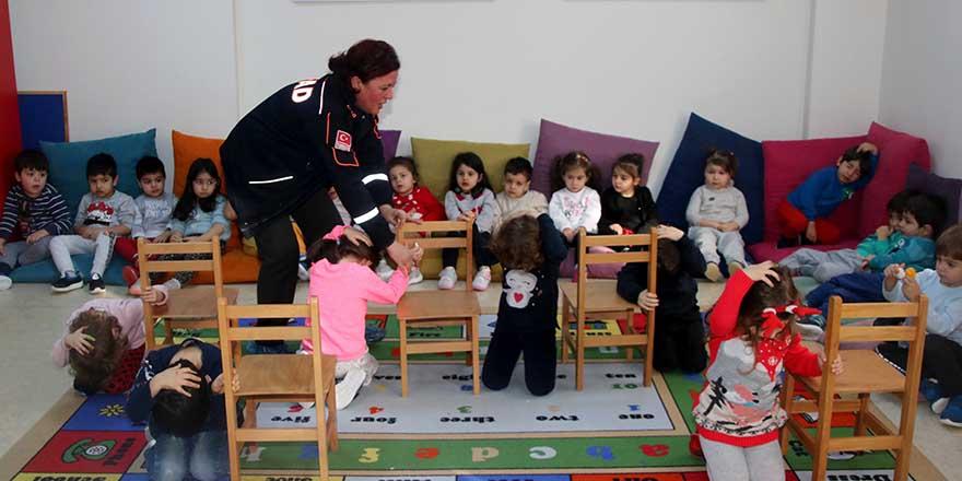 AFAD'dan kreş çocuklarına doğal afet eğitimi