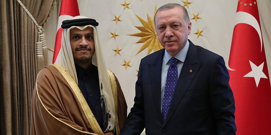 Erdoğan, Katar Başbakan Yardımcısı  Al Thani'y kabul etti