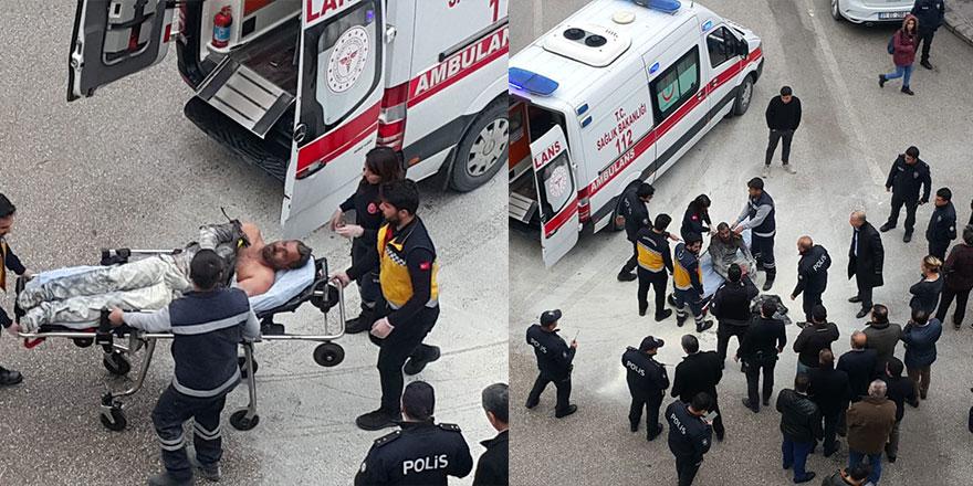 Hatay'da bir vatandaş Valilik önünde kendini yaktı