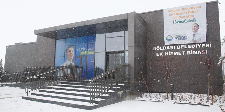 Gölbaşı Belediyesi, İncek Ek Hizmet Binası'nı açıyor