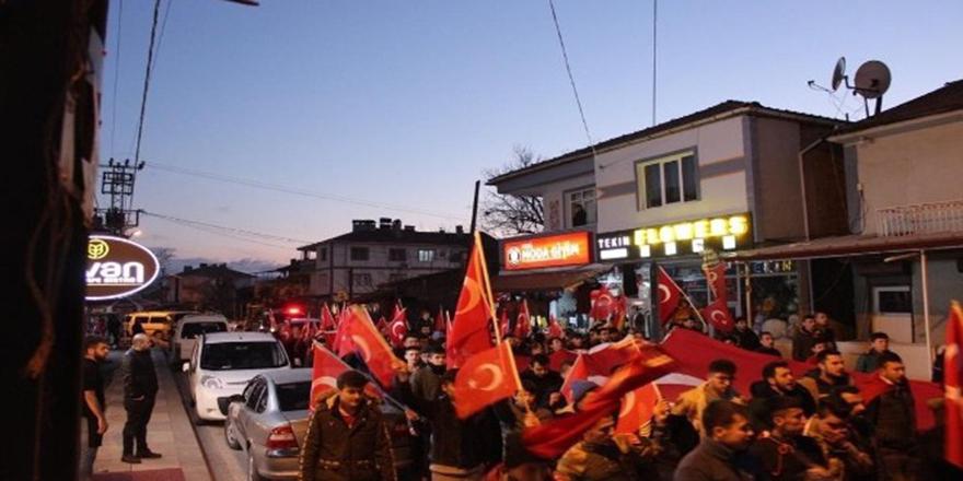 Nallıhan'da birlik beraberlik yürüyüşü