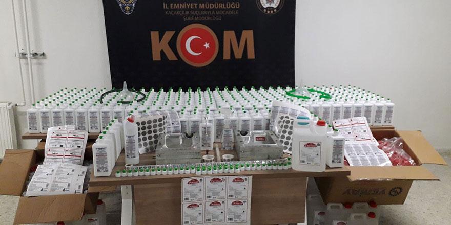 Ankara'da sahte dezenfekte ürünleri üreten çete çökertildi