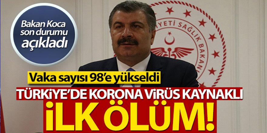 'Türkiye'de korona virüs kaynaklı ilk ölüm'