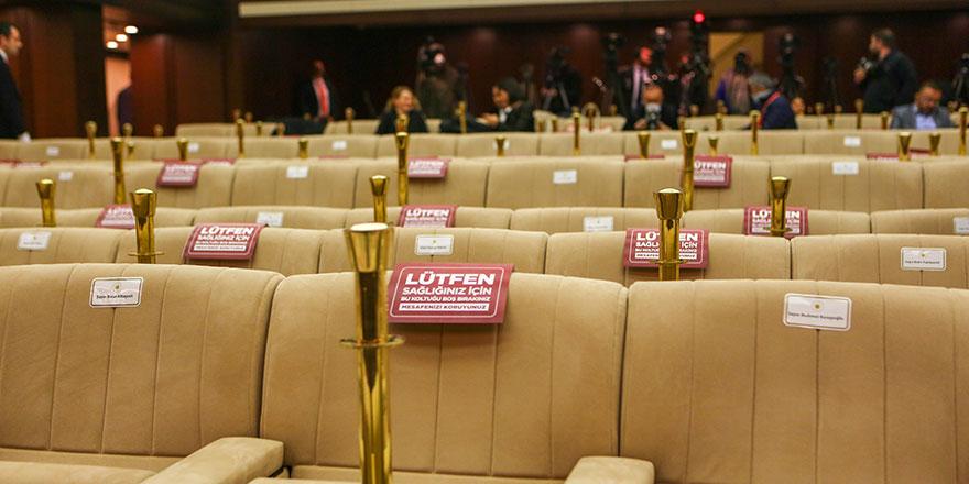 Erdoğan'ın basın toplantısı öncesinde korona virüsü tedbirleri