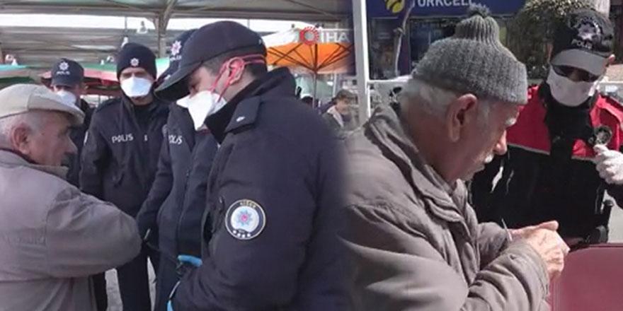 Polis ekipleri 65 yaş üstü nöbetinde