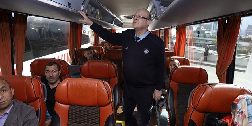 Zabıtalar AŞTİ'de otobüsleri denetledi