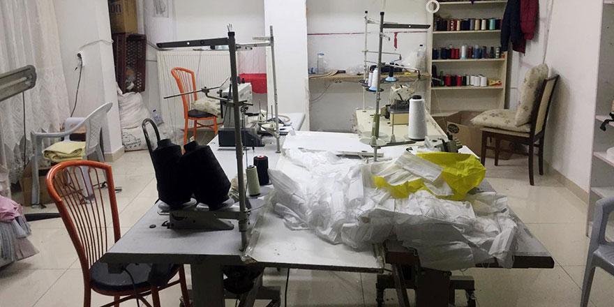 Altındağ'da kaçak maske üreten iş yeri mühürlendi