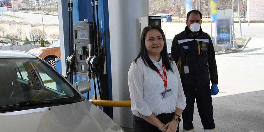 Keçiören'de sağlık çalışanlarına akaryakıt desteği