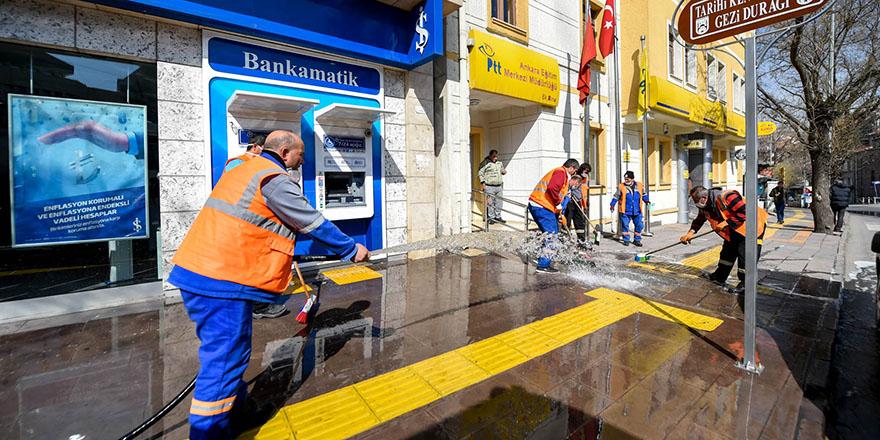 Altındağ'da köşe bucak temizlik