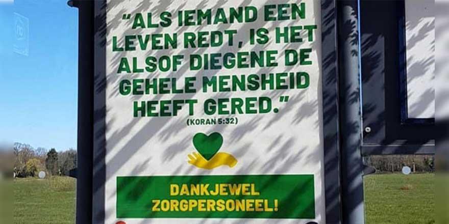Hollanda'da sağlık çalışanlarına jest