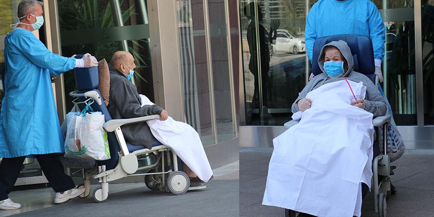 Ankaralı yaşlı çift korona virüsü yendi