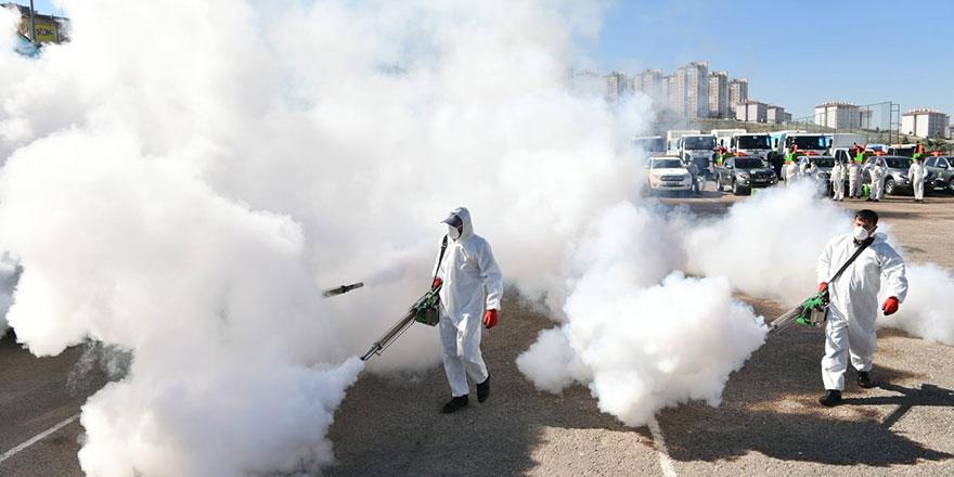 Zirvekent Mahallesi dezenfekte edildi