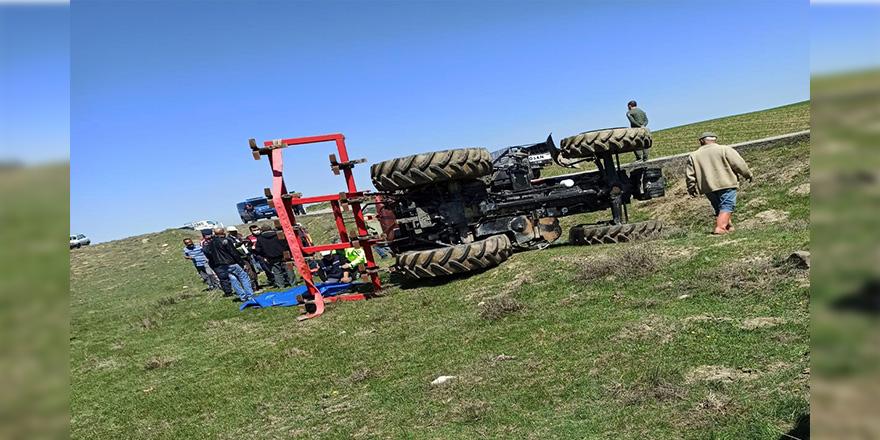 Polatlı'da traktör devrildi: 1 ölü