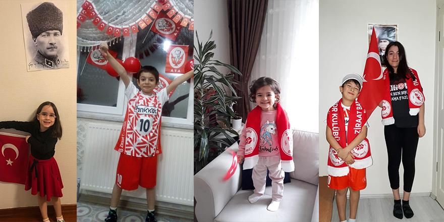 Zirve Taraftar Grubunun minikleri 23 Nisan'ı evlerinde kutladılar