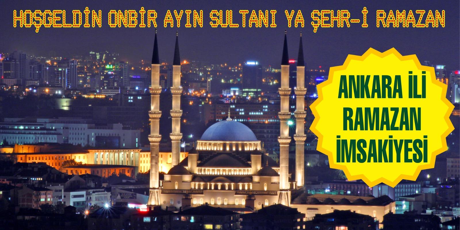 Ankara  ve İlçeleri Ramazan İmsakiyesi - 2021