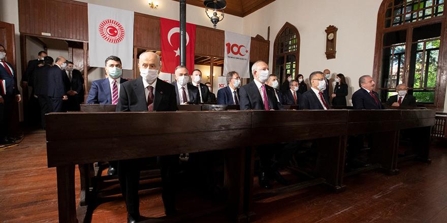 Birinci Türkiye Büyük Millet Meclisinde 100. yıl töreni