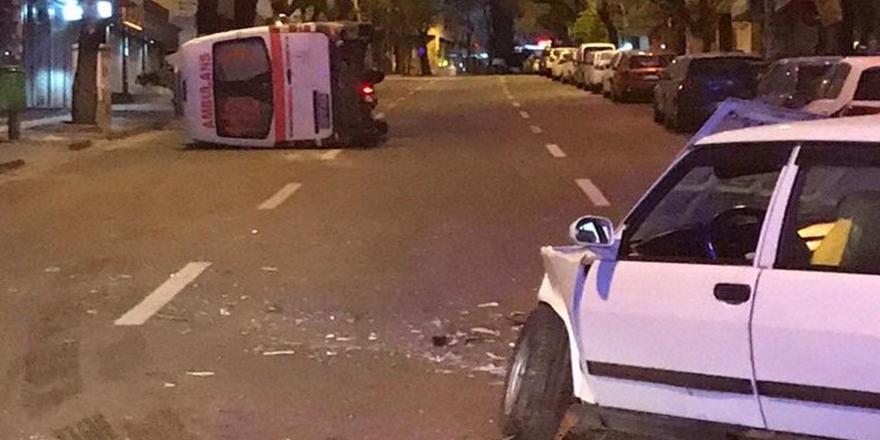 Çankaya'da feci kaza: 3 yaralı