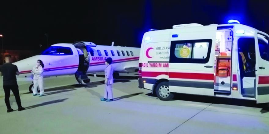 Ambulans uçağından bir gecede iki operasyon