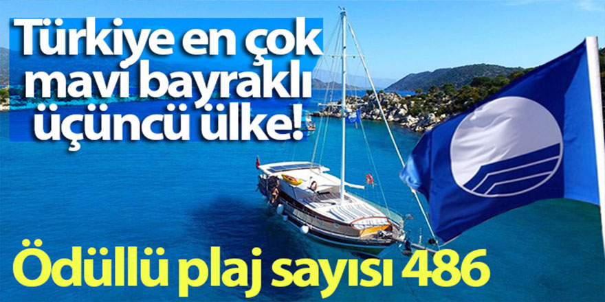 Türkiye Mavi Bayrak'ta dünya üçüncüsü