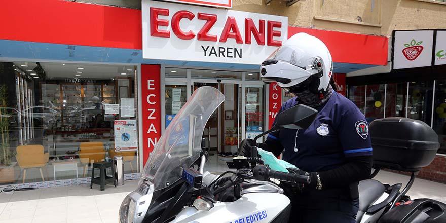 Yenimahalle'de evde kalanlara motorize destek