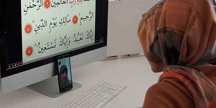 Keçiören'de görme engelli vatandaşa online kur'an kursu