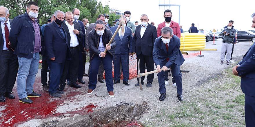 Başkan Buran doğalgaz çalışmalarını başlattı