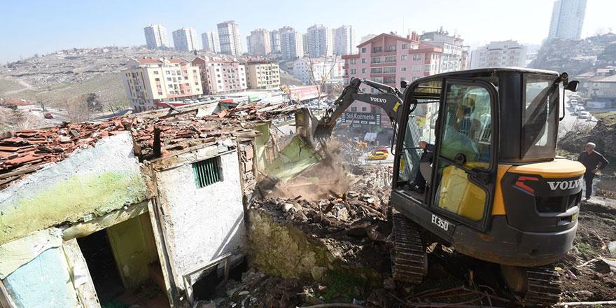 Altındağ'da 6 ayda 208 metruk yapı yıkıldı