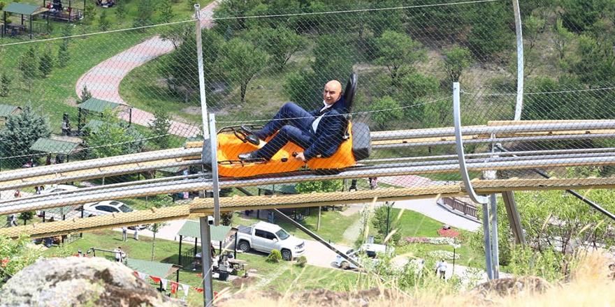Başkan Altınok'tan dağ kızağı turu