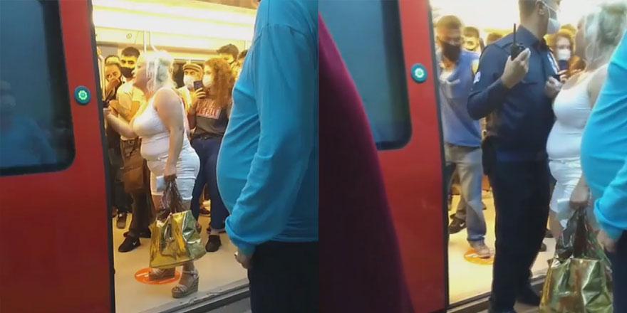 Ankara metrosunda maske tartışması