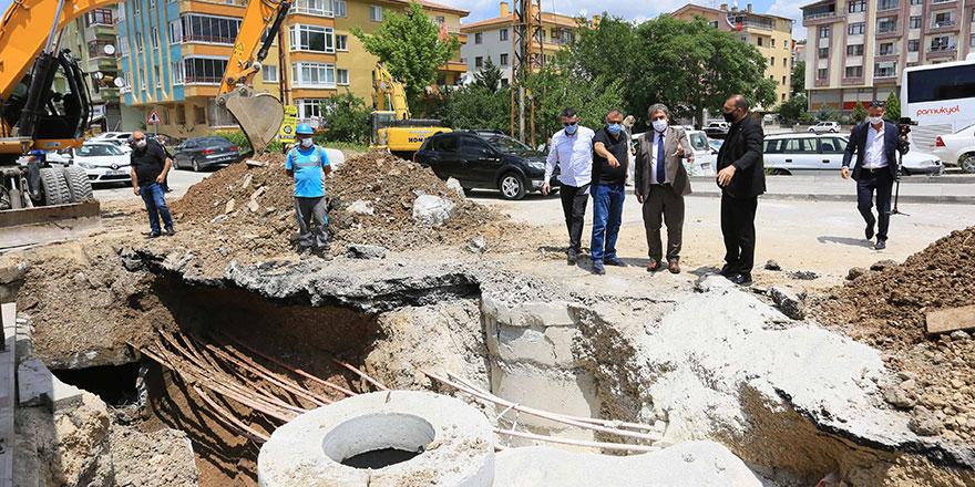 ASKİ Keçiören'deki su taşkınları sorununu çözüyor
