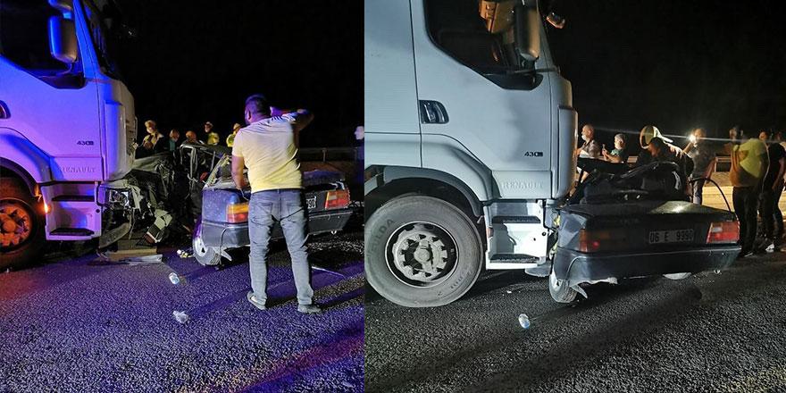 Kahramankazan'da feci trafik kazası: 2 ölü