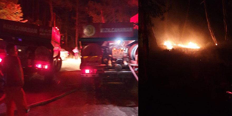 Soğuksu Milli Parkı'nda korkutan yangın