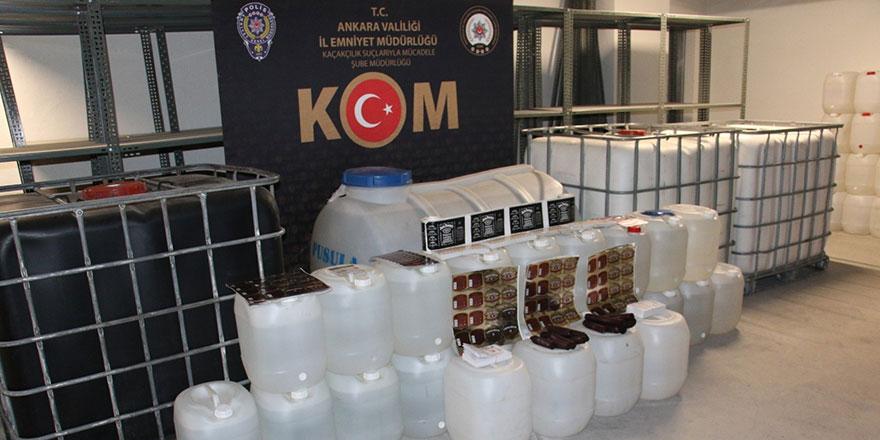 Başkent'te kaçak içki operasyonu