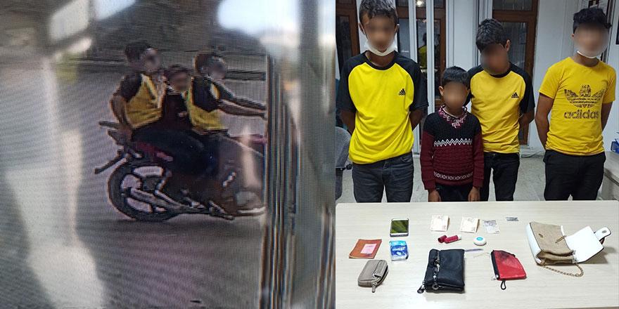 Çocuk Çete üyeleri bu sefer polis amcadan kaçamadı