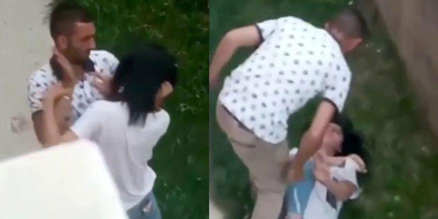 Genç kızın boğazını sıkıp, karnına yumruk atarak darp etti