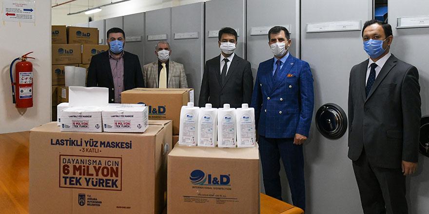 Büyükşehir'den Özbekistan'a hijyen desteği