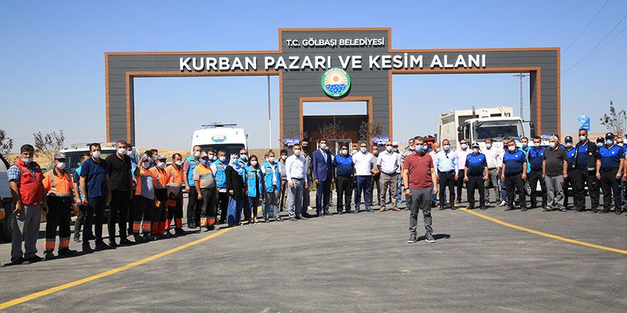 Başkan Şimşek ve ekibi kurban kesim tatbikatı yaptı