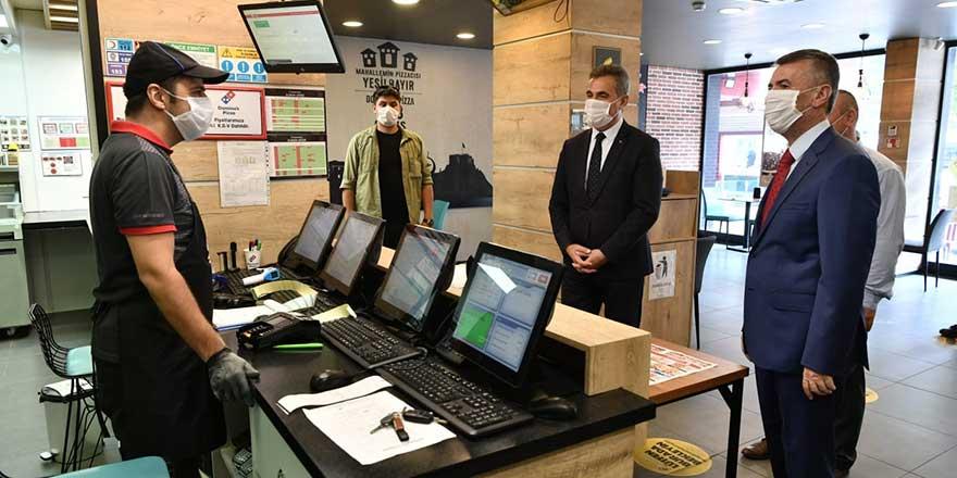 Kaymakam Sırmalı ve Başkan Köse'den korona virüs denetimi