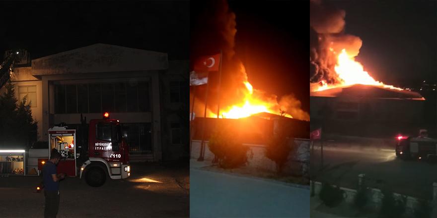 Başkent'te fabrika yangını