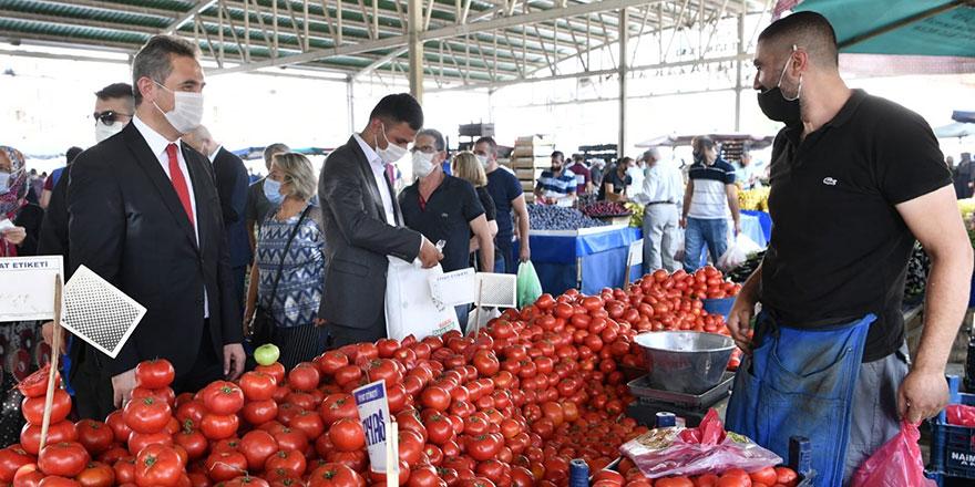 Başkan Köse'den pazar denetimi