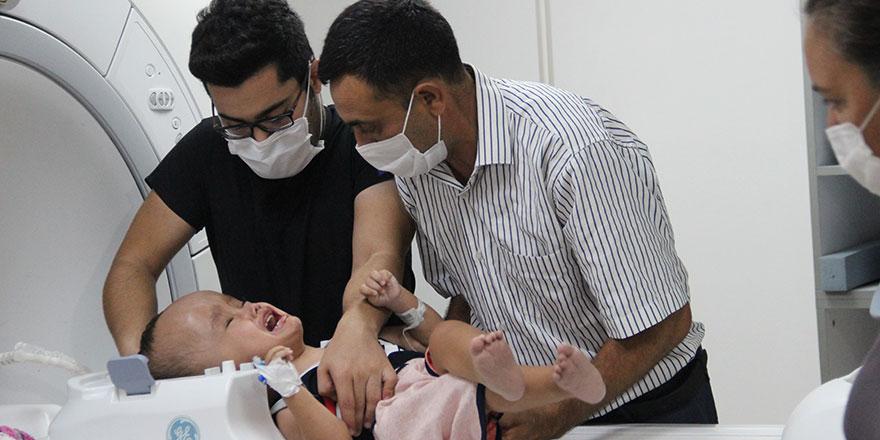 Erdoğan devreye girmişti; minik Sercan tedavi için İzmir'e geldi