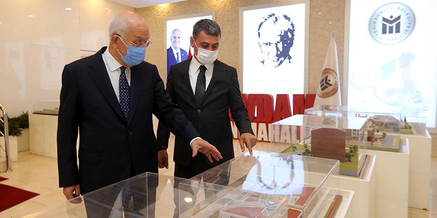 Başkan Yaşar'a Şimşek'ten ziyaret