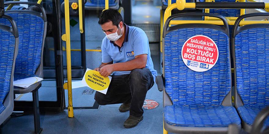 Başkent'te toplu taşıma araçlarına sticker